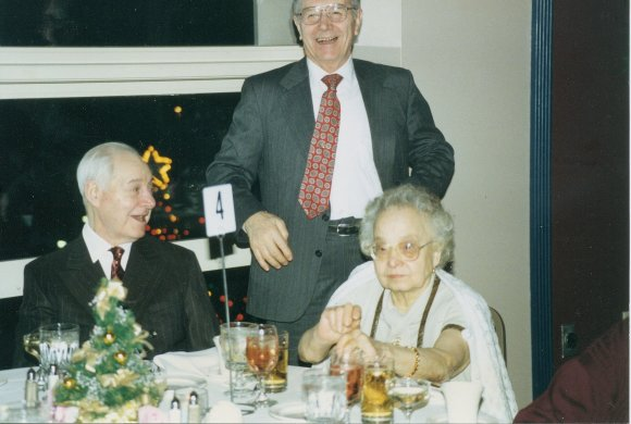 Don't they look happy? My grandparents at our wedding, with my Uncle Mario (standing). Exemplified success without needless luxury.