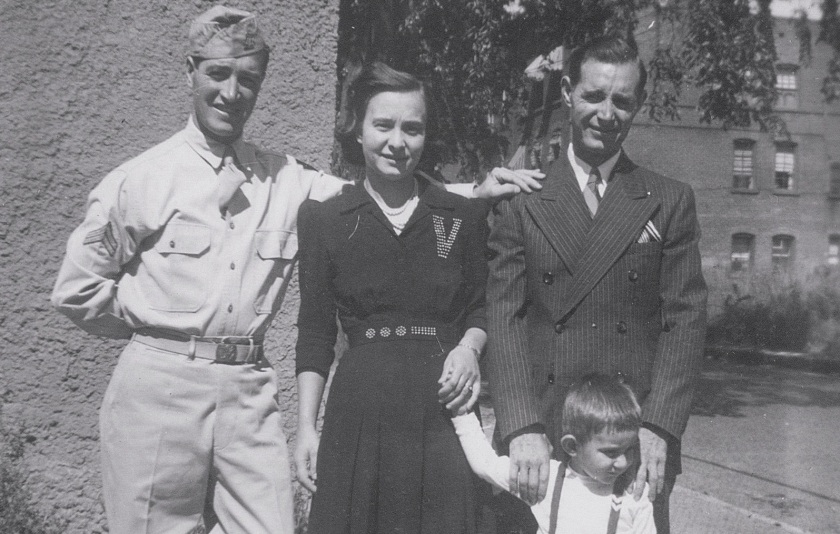 World War II veteran Dominick DeGiorgio, on the left, with his brother and sister in law: my grandparents
